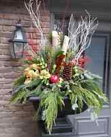 Holiday Winter Planter Arrangements