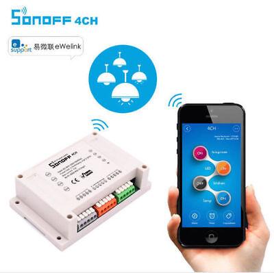 Sonoff 4CH Din Rail Mounting Wireless WiFI Switch Socket Module for Smart Home