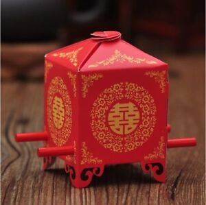 Chinese Tradition Bridal Chair Shape Wedding Candy Box