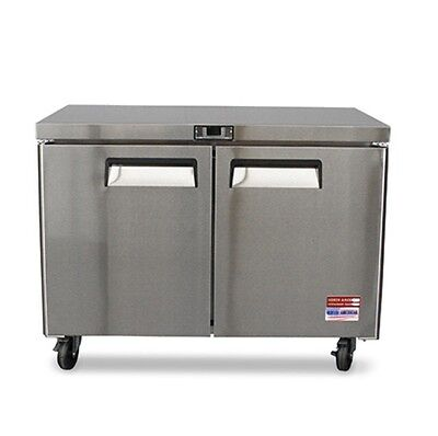 Under Counter Refrigerator Undercounter Cooler 48 Work Top 2 Door 4 New