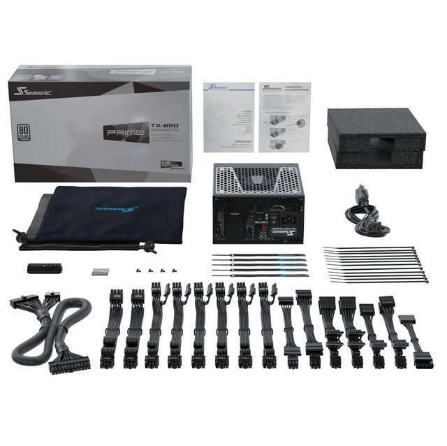 Seasonic PRIME TX-850, 850W 80+ Titanium, Full Modular, Fan Control in Fanless
