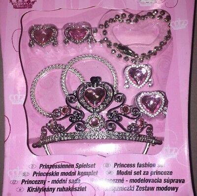 Königin Krone Diadem Ohrringe Armband Kette Anhänger Ring (Prinzessin Krone Spiel)