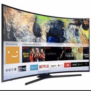 "Samsung 65"" 4K Curved Smart UHD TV 1 Year Warr. OpenBox Macleod (FINANCING AVAILABLE 0% Interest)"