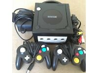 Nintendo GameCube with controllers