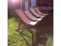 4x deck chairs