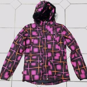 Ladies ski jacket - Size 8 - Black & Pink - As new condition Epping Ryde Area Preview