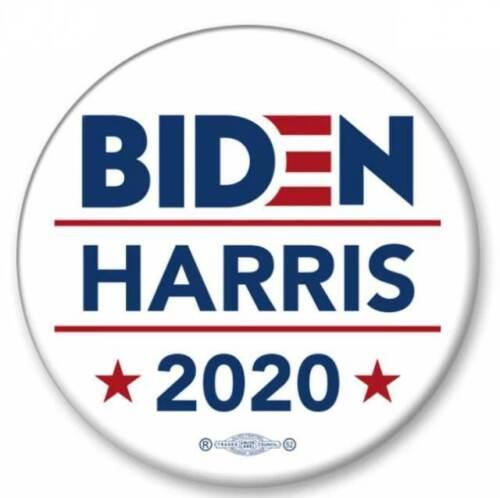 Joe Biden Kamala Harris For President 2020 Blue 2.25 Inch Pinback Button Pin
