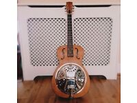 Epiphone Dobro Hound Dog Round Neck Resonator Guitar, Vintage Brown, Acoustic