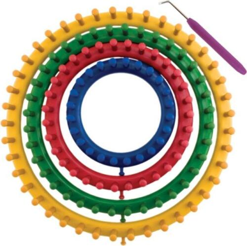 Loom Knitting Kits Uk : Size classical quality round circle hat knitter knifty