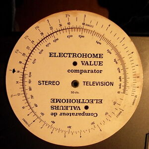 ELECTROHOME VALUE comparitor-$4