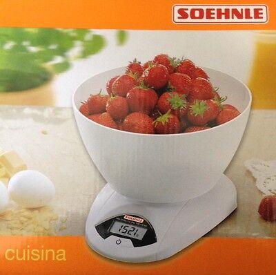 Söhnle Küchenwaage 65081 Digitale Waage weiß Briefwaage Haushaltswaage Feinwaage