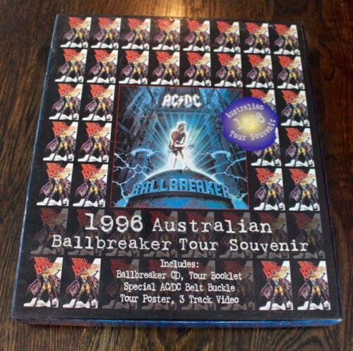 AC/DC 1996 Australian Ballbreaker Tour Souvenir Box Set CD Video Belt Buckle