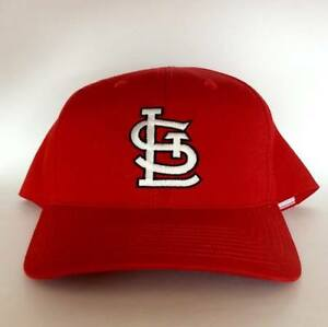 Vintage St Louis Cardinals Snapback Hat by Twins Rare MLB Red
