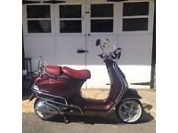 Stunning Vespa LXV 125ie Limited Edition, Low Mileage, Mint Condition, Taxed and MOT