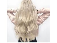 Mobile Hair extensions double drawn microbeaded weft