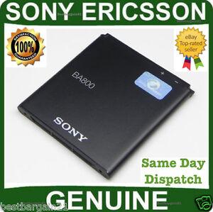 Genuine Sony Ericsson Xperia S LT26i LT26 Arc HD Nozomi Original BA800 Battery