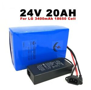 24V 20AH  Lithium battery for Original LG 18650 E-b ebikes/solar