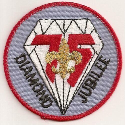 BSA 1985 DIAMOND JUBILEE 75TH ANNIVERSARY AWARD EMBLEM MINT POCKET PATCH
