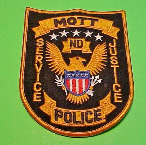 "MOTT  NORTH DAKOTA  ND  51/2""  POLICE PATCH  FREE SHIPPING!!!"