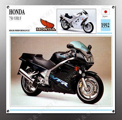 VINTAGE Honda 1992 750 VFR F IMAGE BANNER NOS IMAGE REPRODUCTION