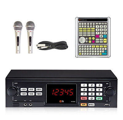 TJ Taijin Media TKR-355HK Korea Korean Karaoke Machine System w/2 Mic,Big Remote