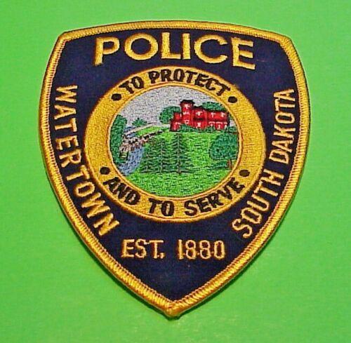 "WATERTOWN  SOUTH DAKOTA  SD EST. 1880  4 3/4""  POLICE PATCH   FREE SHIPPING!!!"