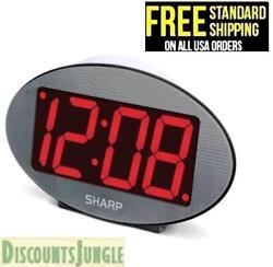 SHARP 3 Red LED Jumbo Display ALarm Clock with Night Light SPC1190