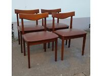Set of Four 1960s Danish Style Dining Chairs. Vintage/Retro/Mid Century