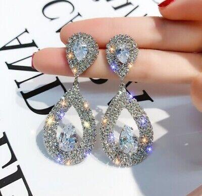 Women's Luxury Fashion Crystal Dangle Drop Earrings