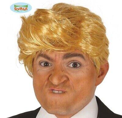 Herren President Donald Trump Kostüm Perücke Blond Neu Fg