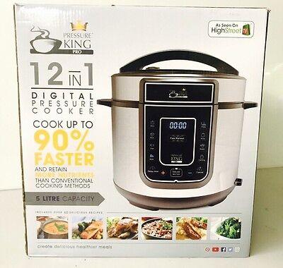 Pressure King Pro 12-in-1 5 Litre Electric Pressure Cooker + Bonus Recipe Book S