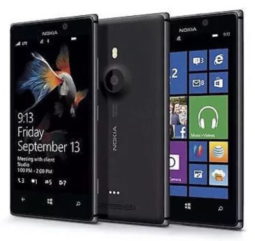 Nokia Lumia 925 Black Unlocked Windows 8 Smartphone Excellent Condition+Warranty