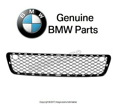 For BMW E70 X5 2007-10 Front Center Lower Bumper Cover Grille Open Black Genuine