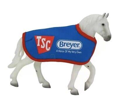 BREYER GREY PERCHERON DRAFT HORSE & BLANKET GIFT SET FREEDOM SERIES MODEL HORSE