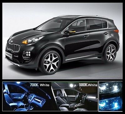 9PCS BANDI White LED Interior Light Package For KIA All New SPORTAGE QLNormal