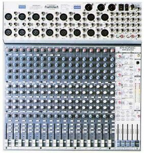 Phonic MR2443 16 channel 4 bus mixer
