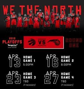 Toronto Raptors vs Orlando Magic - GAME 5 SEC104 ROW12 SEATS 3-4