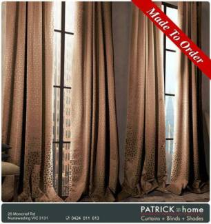 Curtains $23/m MADE TO ORDER/FREE INSTALLATION (No.523)