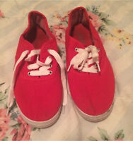 Red ardene's shoes