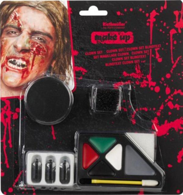 Zombie Make Up Set Schminke Falsche Haut Fake Blut Halloween Party Horror