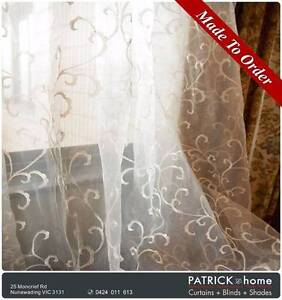 SHEER ( embroider)MADE TO ORDER FREE INSTALLATION (No.30) Nunawading Whitehorse Area Preview