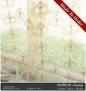 (No.457)EMBROIDER SHEER / FREE INSTALLATION Nunawading Whitehorse Area Preview