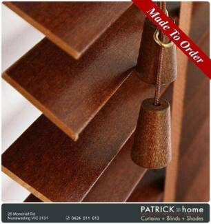 Wood blinds $148/㎡ FREE MEASURE/FREE INSTALLATION (No.B55)