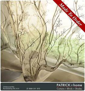 FREE INSTALLATION /EMBROIDER SHEER /MADE TO ORDER (No.455) Nunawading Whitehorse Area Preview