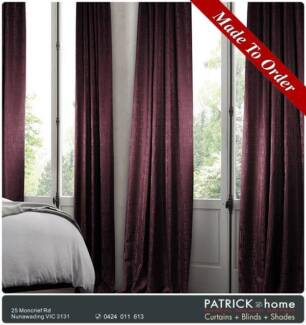 Curtains + Blinds 30%Viscose 70%Poly FREE INSTALLATION ! (No.519)