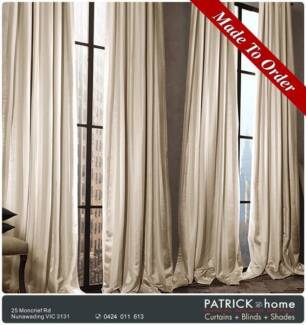 MADE TO ORDER Curtains $23/m FREE INSTALLATION (No.528)