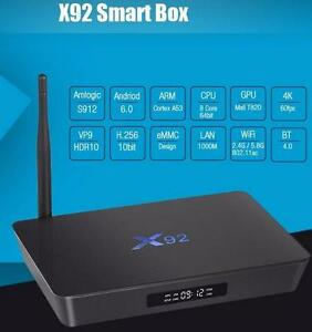 Android TV Box X92 Octa-Core 1000s of Channels Canada, USA, and International