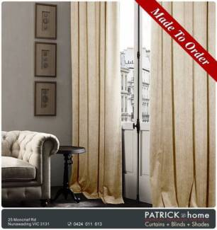 Curtains + Blinds MADE TO ORDER/FREE INSTALLATION ! (No.525)