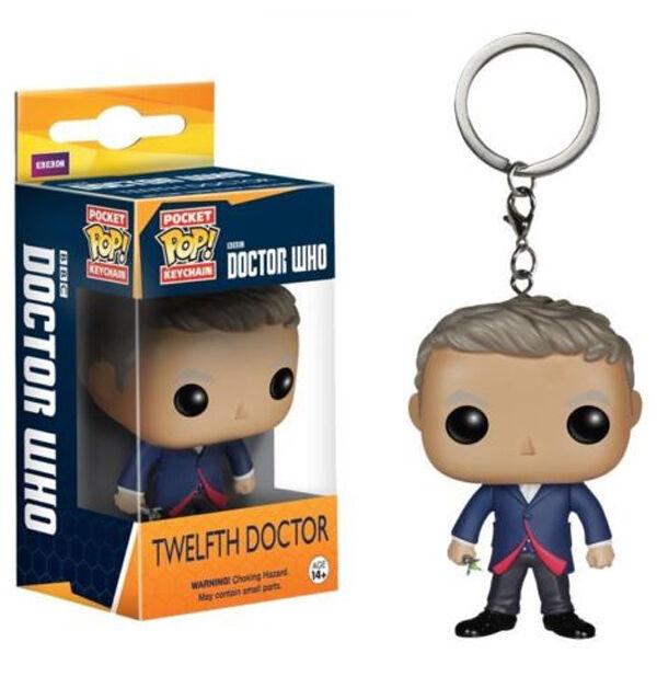 *NEW* Dr Who 12th Doctor Pocket Pop! Keychain Keyring Key Bag Clip - Funko 4995