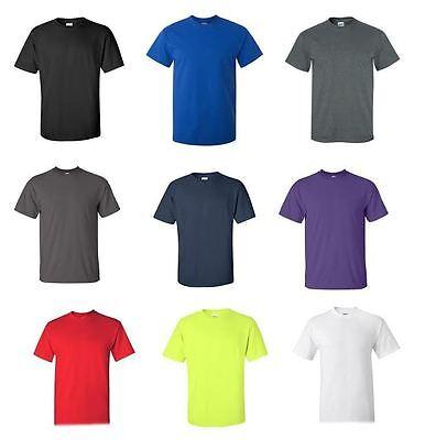 Mens Cotton Short Sleeve T Shirt Tee Close Out Solid Plain Tshirt Various Brand